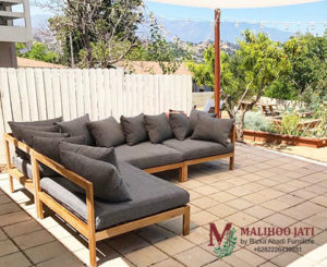 Sofa Tamu Outdoor Sudut Manhattan Elegant